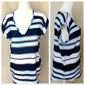 Tops - NWOT Sleeveless V neck Striped BLOUSE Top